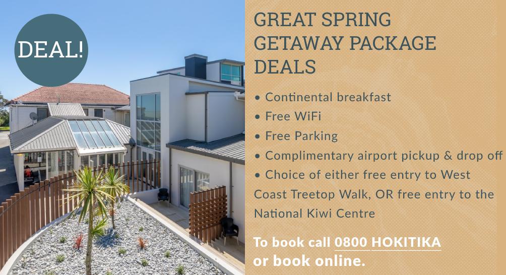 Beachfront Hotel Hokitika Spring Special